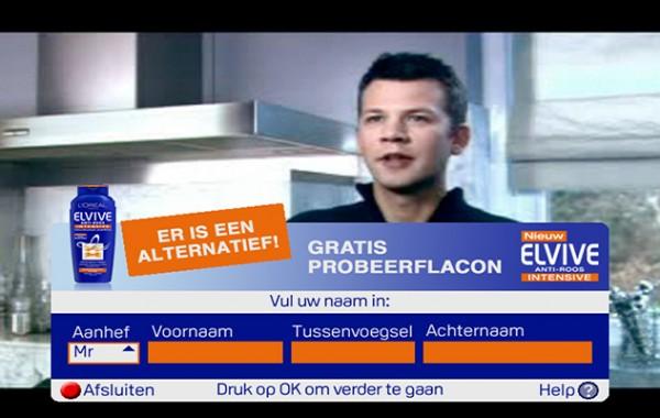 L'Oreal interactive Ad